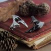 Кольцо «Череп ворона»
