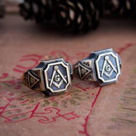 Масонское кольцо «Вольные каменщики»